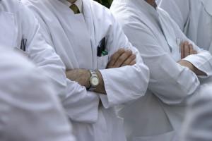 Protest młodych lekarzy rezydentów